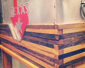 Custom Reclaimed Wood Cooler Stand