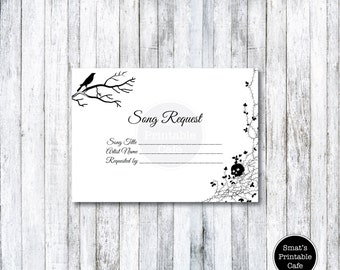 autumn leaves wedding song request card template diy printable etsy