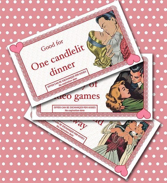 Items similar to Love Coupons PRINTABLE