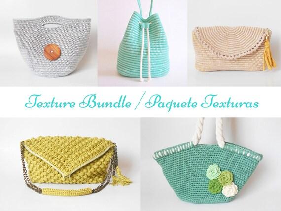 Texture Crochet Pattern Bundle Diy Crochet Bags Crochet Etsy