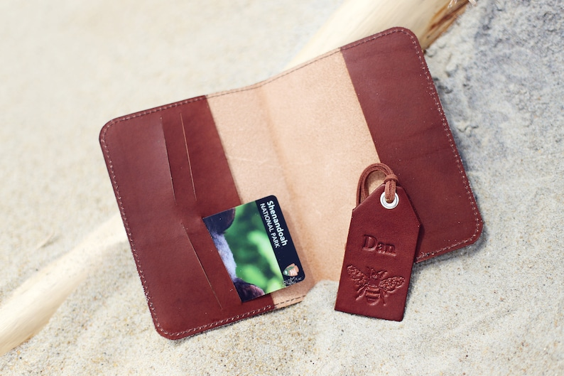 832a22313400 SALE 50% FREE name initials, set of Personalized Leather Passport Cover and  luggage tag Honey Bee Travel Wallet Credit Card holder gift set