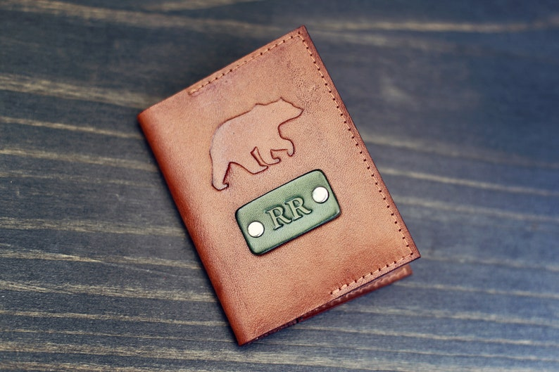 Personalized Palm Trees Genuine Leather Front Pocket Wallet
