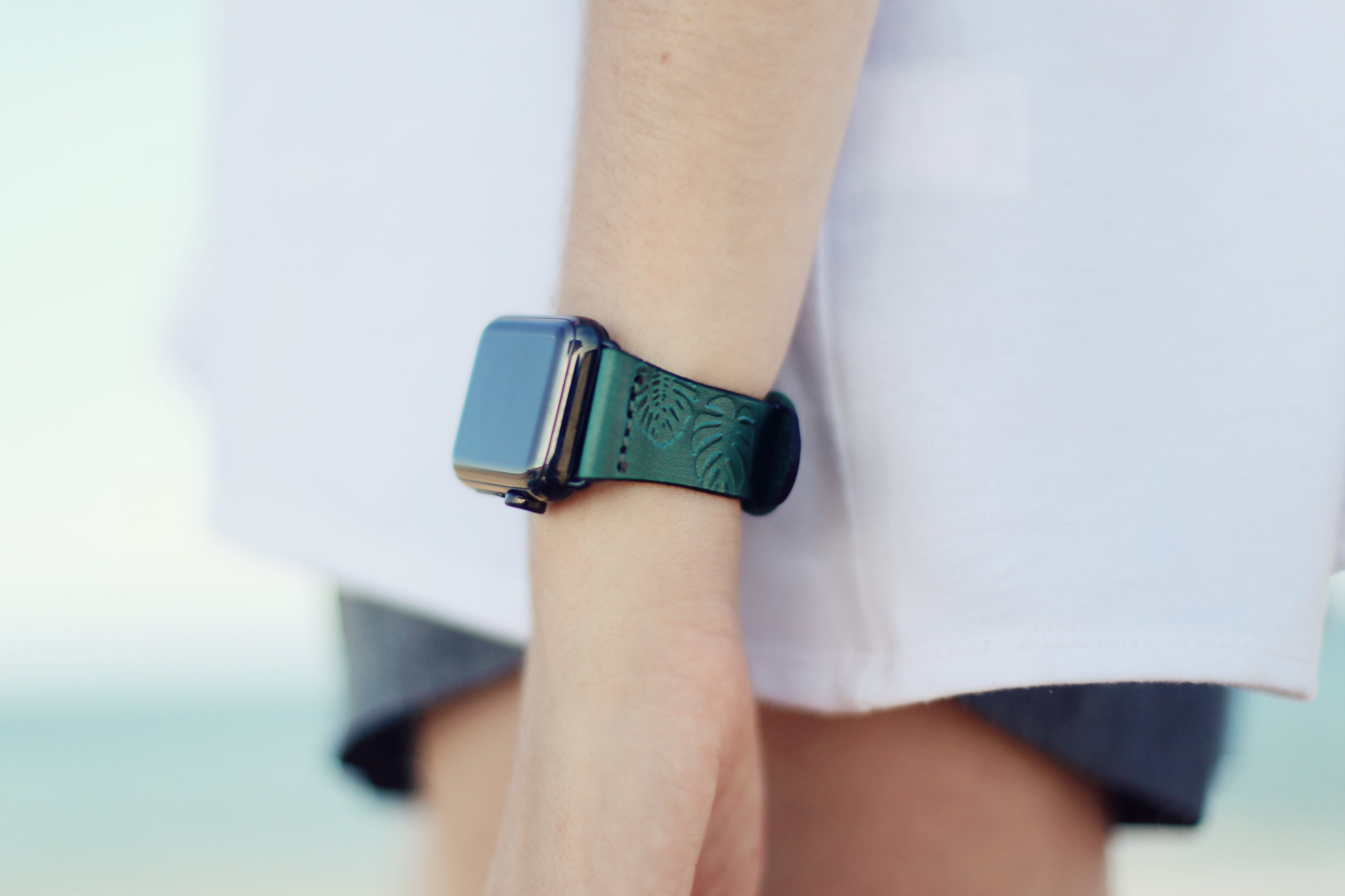 iwatch leather band Leather Apple Watch band women Leather