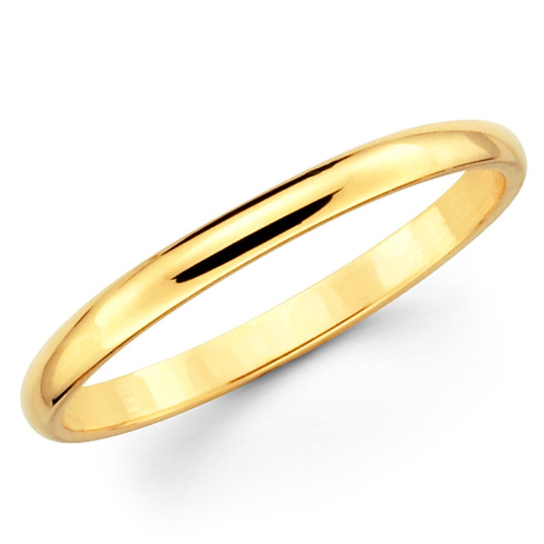 10K SOLID WHITE YELLOW GOLD PLAIN FIT WEDDING RING BAND MENS WOMEN 2MM 3 4 5 6