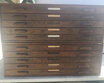 Blueprint cabinet etsy vintage hamilton file blueprint oak wood cabinet malvernweather Choice Image
