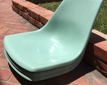 Mid Century Fiberglass Krueger Chair Shell Pale Light Green