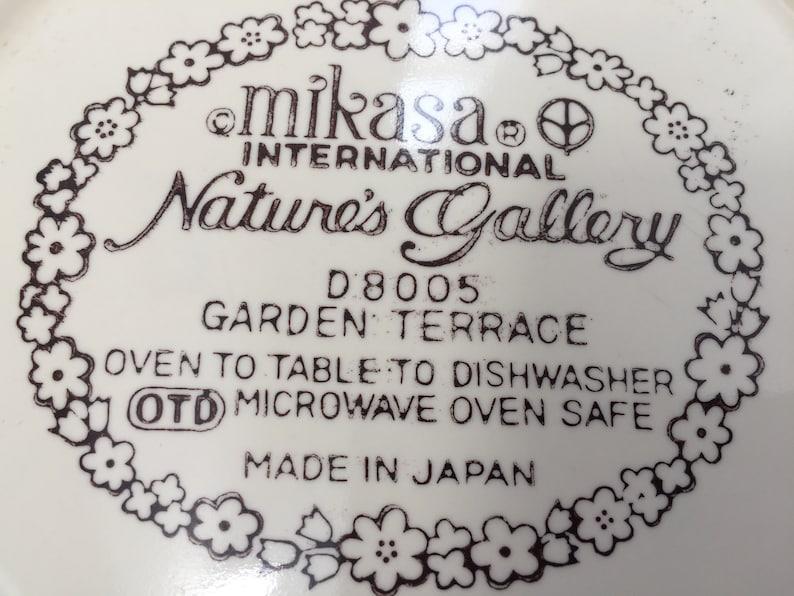 4 Vintage Mikasa Int/'l Nature/'s Gallery ~ Garden Terrace Pattern ~ Plates ~ D8005
