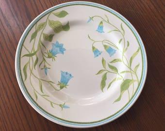 Vintage Franciscan Blue Bell Pattern Dinner Plate