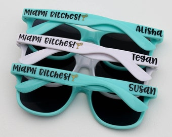 Personalized Sunglasses, Party Sunglasses, Bachelorette Party Favors, Custom Sunglasses, Girls Weekend, Wedding Favors, Destination Wedding