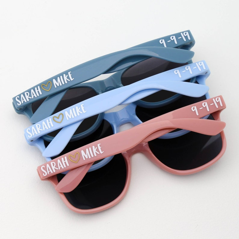 Custom Sunglasses Party Sunglasses Bridesmaid Gifts Personalized Sunglasses Bachelorette Gifts Wedding Favors Destination Wedding