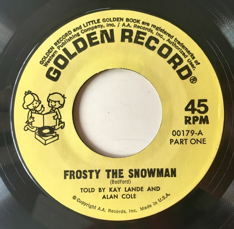 Frosty The Snowman 7' Vinyl Record / 24 Page Read Along image 6