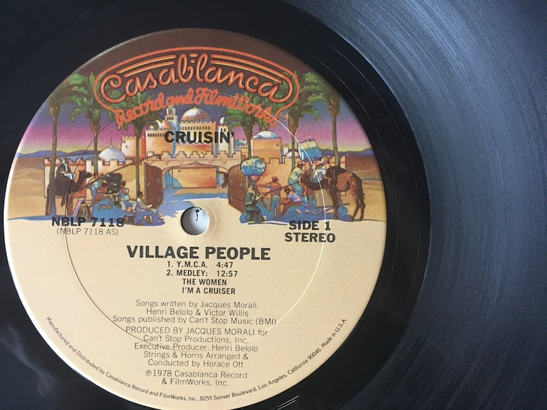 Village People Cruisin Lp Vinyl Record Album Etsy