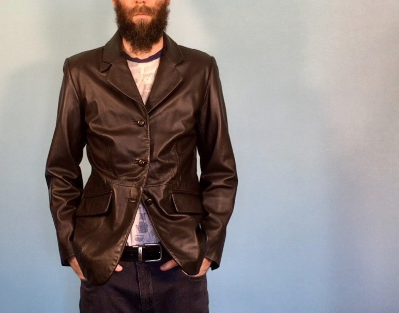 c49862a49 Dark Brown Genuine Lambskin Leather Jacket - Croft & Barrow, Size M