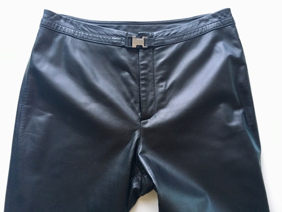Black Leather Pants - Ralph Lauren, Size 29 / 6