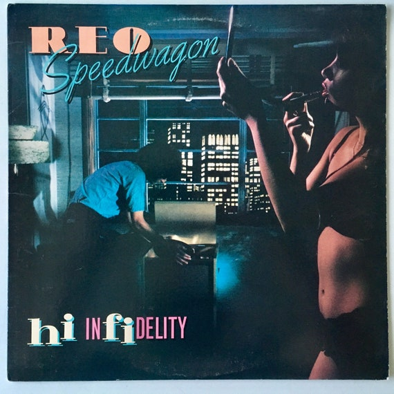 reo speedwagon hi infidelity lp vinyl record album epic etsy. Black Bedroom Furniture Sets. Home Design Ideas