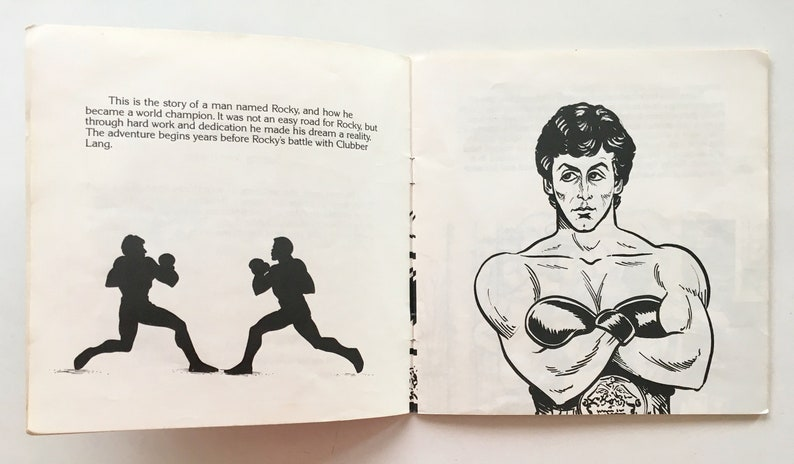 Rocky vs Clubber Lang 7' Vinyl Record / Book, Kid Stuff KSR 590, Children's  Story, 1984, Original Pressing