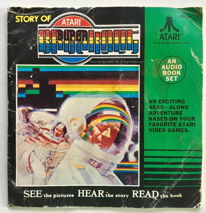 Atari - Story of Atari Breakout 7' Vinyl Record / Book, Kid Stuff -  KSR-944, Children's Story, 1982, Original Pressing