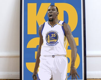 """Kevin Durant """"KD 35"""" Poster/Print"""