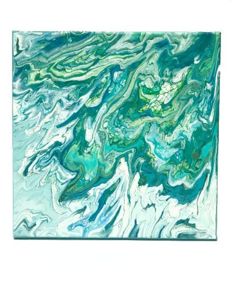 Fluid Art Canvas  Where Water Meets the Earth image 0