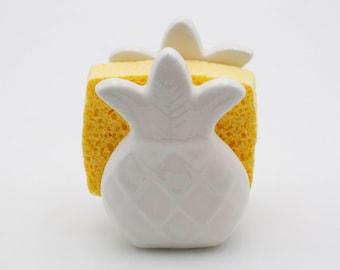 Pineapple napkin holder - Pineapple Sponge Holder - Pineapple Kitchen Decor - pineapple decor -  Housewarming Gift - summer decor - under 30