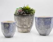 ceramic planter, Faceted Planter, geometric planter, modern minimal planter, home decor