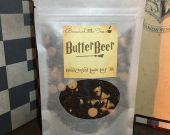 Butterbeer Inspired Bookish Tea | Caramel, Butterscotch, Butter brew, butter beer, Christmas gift stocking stuffer, wizard, Birthday gift