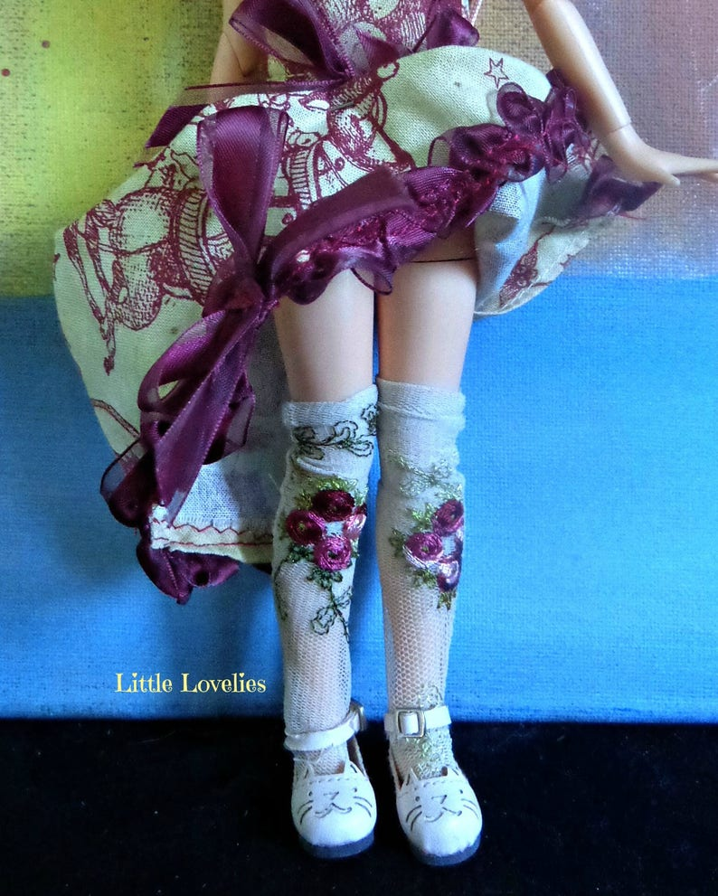 111787eda BLYTHE DOLL or Pullip Doll delicate long stretch nylon