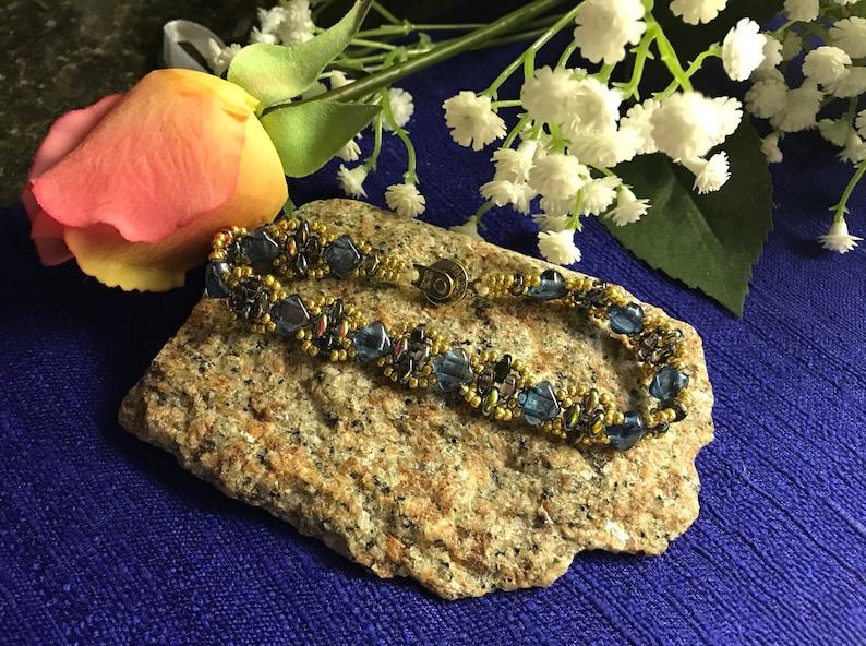 Tanzanite Color Silky Bead Stacking Bracelet