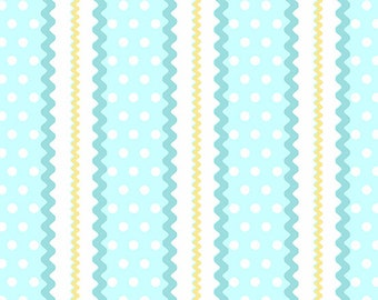 Roseberry Cottage Rick Rack in Blue by Andover Fabrics -- 1/2 Yard