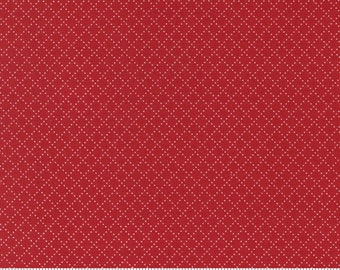Belle Isle Cross Hatch in Red by Minick & Simpson for Moda -- 1/2 yard