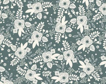 My Heritage Main Teal by My Mind's Eye for Riley Blake Designs - 1/2 yard