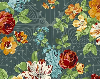 Francesca in Mediterraneo by Giucy Giuce for Andover Fabrics -- 1/2 Yard