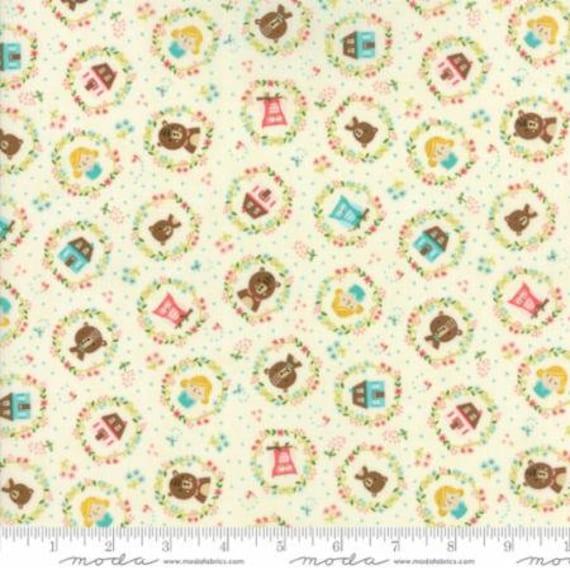 Cream MODA Fabric ~ HOME SWEET HOME ~ Stacy Iest Hsu by 1//2 yard 20573 11