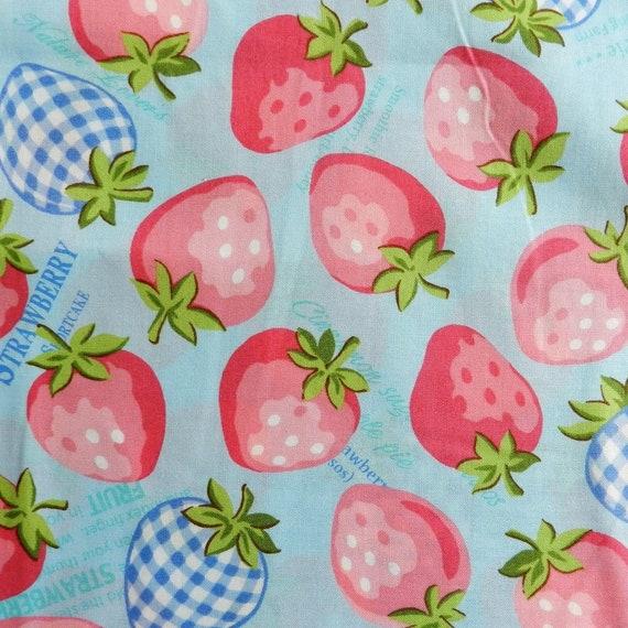 AMSTRAW-FQ Strawberries by Atsuko Matsuyama - Fat Quarter Bundle Little Strawberry Generation Collection 5 Fabrics