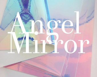Angel Mirror Patent Leatherette 1.2mm Thickness Holgraphic Glossy Leather A4 sheet