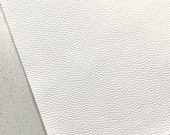 White Thick Textured Leatherette Sheet 1.2mm Thickness A4 or A5 Size Faux Leather Fabric