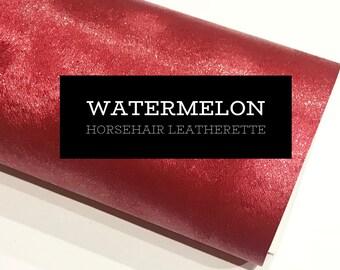 Watermelon Horse Hair Faux Leatherette