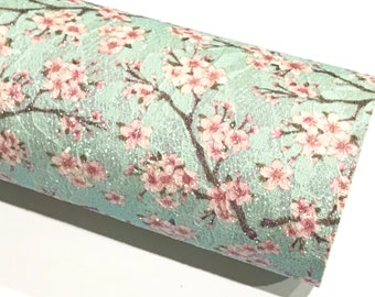 Floral Blossom Glitter Lace Fabric Sheet A4 - Glitter Lace