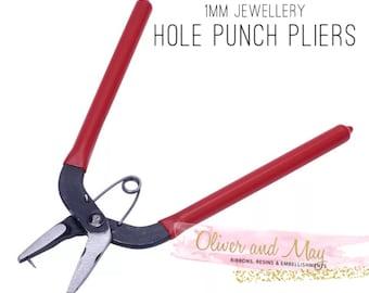 Qualit/é Pince perforatrice en m/étal rouge Bijoux Artisanat feuilles Stock Outil 1,5/mm