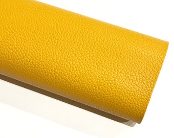 Bright Mustard Yellow Leatherette Sheet Thick 1.1mm