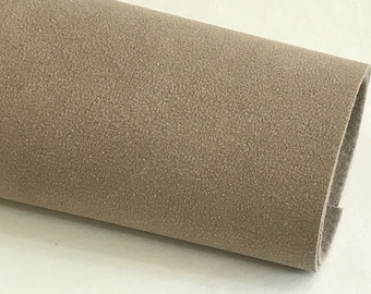 Tortilla Brown Faux Suede Leather A4 Sheet