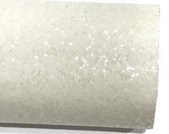 White Glitter Fabric Sheet 0.7mm Thickness 8x11 Sheet A4