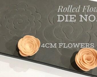Rolled Flower Die No. 2 - 4cm Flowers
