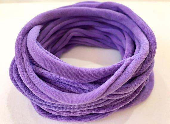 10 Pieces Thin Wholesale Nylon Elastic Stretch Headbands Black 26cm 6mm wide