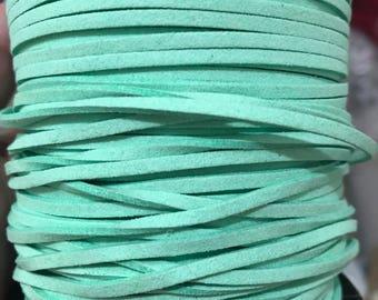 Mint Faux Suede Cord - 5m