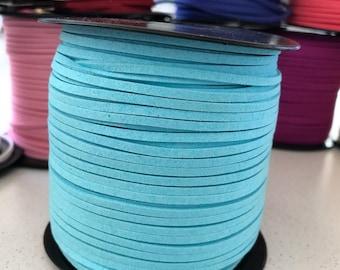 Light Blue Faux Suede Cord - 5m