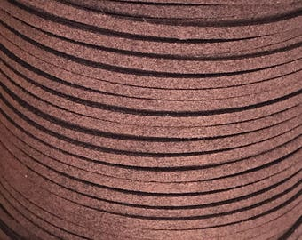Chocolate Faux Suede Cord - 5m
