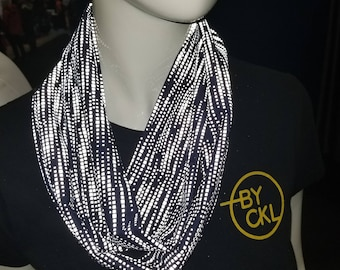 Mobius infinity reflective scarf navy