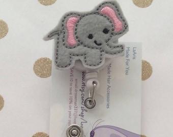 Elephant reel retractable badge- animal reel badge - teacher badge-preschool teacher reel badge - pediatric nurse reel- pediatric reel badge