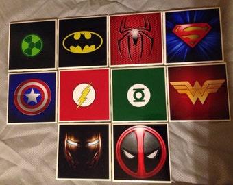 Superhero Coasters (set of 4/6/8/10)